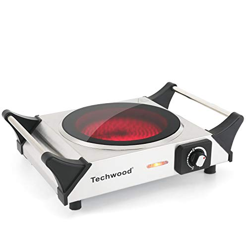 Techwood Hot Plate Single Burner Electric Ceramic Infrared Portable Burner, 1200W with Adjustable...