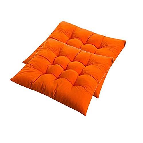 FOGUO Set di 2 Cuscini di Seduta, Cuscino per Sedie Giardino, Cuscini per Sdraio Prendisole, Rivestimento in Poliestere, con Cinghie di Ritenzione, per Giardino Terazza