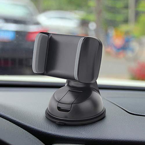 Soporte Movil para Coche con Ventosa, Soporte Télefono Coche para Parabrisas/Salpicadero 360 Grados Universal para iPhone X 8/8 Plus, GPS y Otros Movíles,Negro