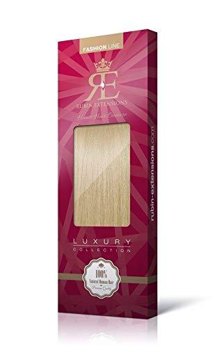 Extensions Cheveux Humains   Extensions de cheveux clip-in   100% doux soyeux remy cheveux   Coiffure 50 cm 70g par Rubin Extensions (Blond Miel)