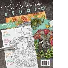 Somerset Studio The Coloring Studio Winter 2017