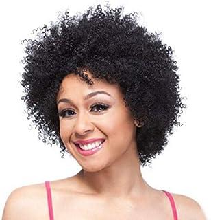 Short Curls African Wigs Black High Temperature Silk Fiberglass Head Wigs 25CM-30CM