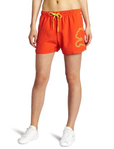 PUMA Damen-Shorts mit Fußball-Katze, Fiesta, X-Groß