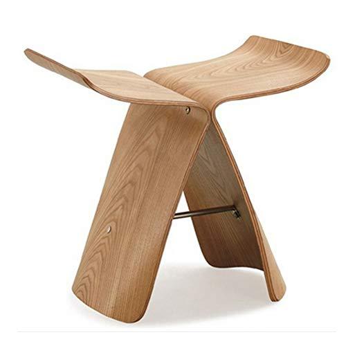 lijunjp Holzschuhe Hocker, Bent Wood Style Butterfly Hocker, Mode einfache Gebogene Holz Handwerk Originalität Haushalt niedrigen Hocker, für Schlafzimmer, Wohnzimmer, Schreibtisch, Couchtisch