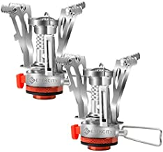 Etekcity Ultralight Portable Outdoor Backpacking Camping Stove with Piezo Ignition (2pack), Survival Kit for Emergency, Hurricane, Earthquake