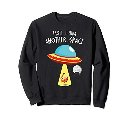 Alien UFO Japanische Ramen Nudeln im Weltall Außerirdischer Sweatshirt