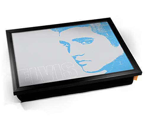 Elvis Presley Blue Face Cushion Lap Tray Cojín Bandeja de Regazo