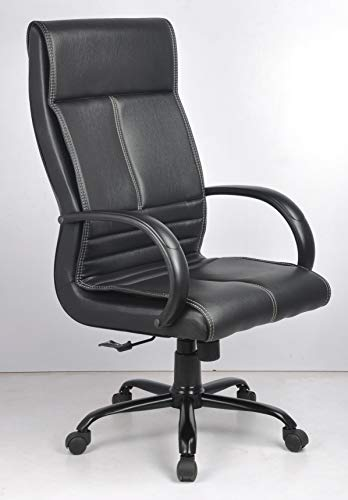 INNOWIN ® Makson Wood, Leatherette High Back Executive Office Chair (Black)