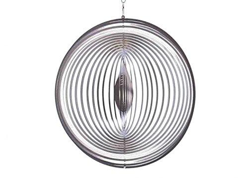 Illumino Edelstahl-Windspiel Kreis XL