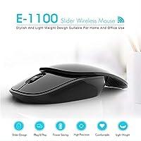 Jurben オフィスコンピュータPCのための無線スライダーの無言のマウスの携帯用ベルトワイヤレススライダー2.4Gサイレントマウス
