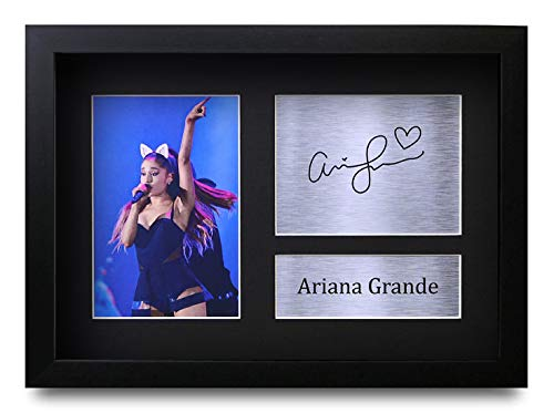 HWC Trading Ariana Grande A4 Gerahmte Signiert Gedruckt Autogramme Bild Druck-Fotoanzeige Geschenk Für Musik-Fans