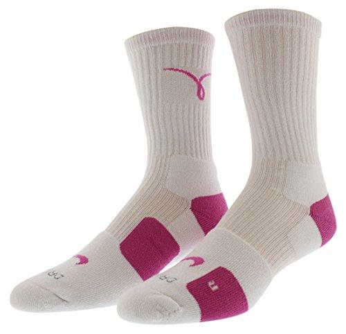 Nike Dri-Fit Elite Kay YOW Crew Socken Pink/Weiß (, groß, weiß/PINKFIRE II/(PINKFIRE II))