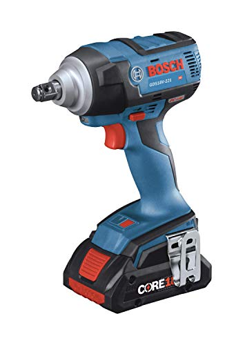 BOSCH GDS18V-221B25 18V EC Brushless 1/2 In. Impact Wrench Kit with (2) CORE18V 4.0 Ah Compact Batteries