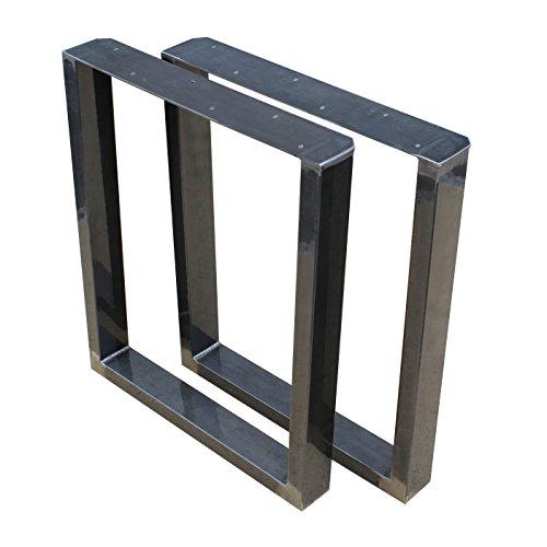 Paar Größe WÄHLBAR BestLoft® (80T) Tischbeine Tischkufen Tischfüße Industriedesign Tischgestell Tischuntergestell Tischkufe Kufengestell Tischkuven Kufen Kuven Tisch (80x72cm)