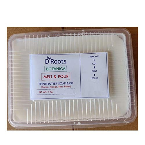 D ROOTS Botanica Triple Butter Soap Base Cocoa, Mango And Shea Butter PACk (1 kg)