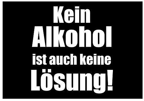 Fun-Aufkleber Kein Alkohol ist auch Keine Lösung Sticker Bier Beer
