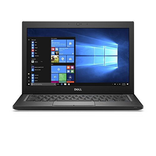 Dell Latitude 7280 Intel Core i7-7600U X2 2.8GHz 16GB 512GB SSD 12.5 inches, Black (Renewed)