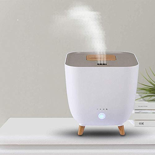 Deshumidificador silencioso humidificador inteligente de gran capacidad atomizador de aromaterapia mujer embarazada dormitorio purificador de aire humidificador,White