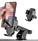 DAVE Support Téléphone Voiture, Support Portable Voiture, Tableau de Bord Pare-Brise Support Portable Voiture avec Rotation 360° pour Phone et GPS Appareils (Noir)
