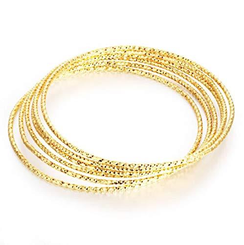 ANAZOZ Schmuck Legierung Damen Armreif Armbänder Kleine Thin Circle Embroidery Gold 21CM