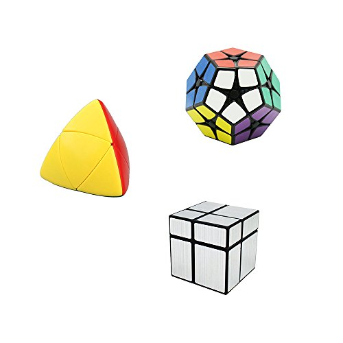 Wings of wind - Dodecaedro Megaminx + 2x2x2 Mastermorphix Cube + 2x2 Silver Mirror Puzzle Cube (A)