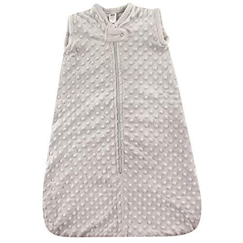 Hudson Baby Saco de Dormir Unisex de Felpa, Saco de Dormir, Manta, Visón de Lunares Gris Claro, 6-12 Meses