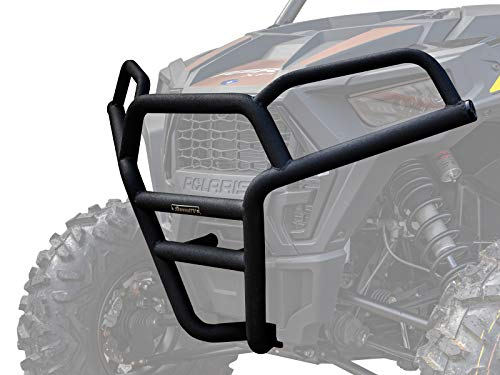 "SuperATV Heavy Duty Front Brush Guard Bumper for 2019+ Polaris RZR XP 1000 / XP 4 1000 (Wrinkle Black) |100% Bolt-On for Easy Install | Made with 1.75"" Steel DOM Tubing 
