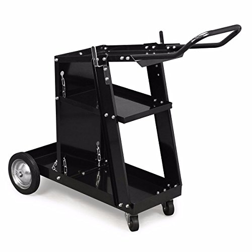 XtremepowerUS HD Welding Cart Universal MIG MAG ARC TIG Machine Welders Home Garage Shop + Safety Chain