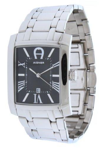 Aigner 4050649525545–Uhr für Männer, Edelstahl-Armband Silber