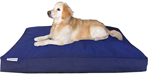 Dogbed4less Jumbo Orthopedic Extreme Comfort Memory Foam Dog Beds for Large Dog, Waterproof Lining and Machine Washable Durable Cover, 55X47 Pillow, Navy Blue