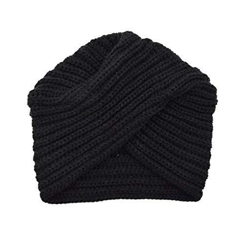 YQHWLKJ Einfarbige Mütze für Damen Boho-Stil warme Strickmütze Mode weiches Haar...