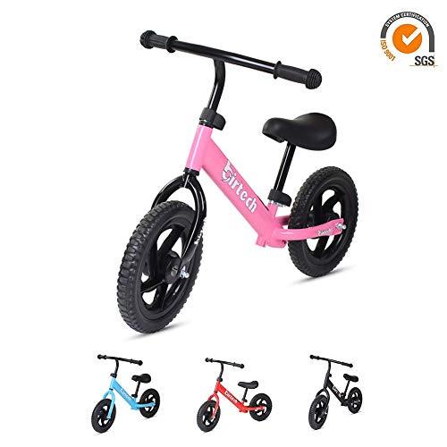 Grils Balance Bike for 2,3,4,5,6 years old,pink 12''No Pedal bike walking...