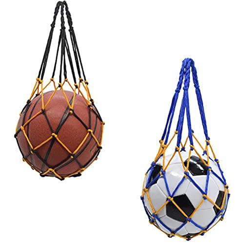 COTTILE Nylon balnät balnät balväska nät för fotboll, basket, volleyboll, handledsboll, nylon, sport nätväska med dragsko