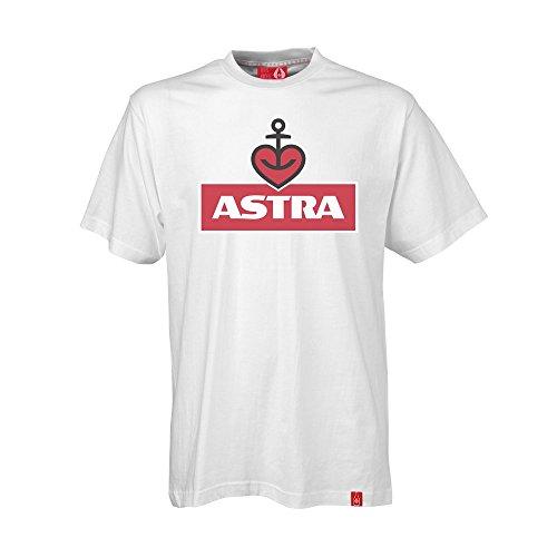 ASTRA Herren T-Shirt Weiss, Oberteil für Herren, Basic-Shirt mit Herzanker-Aufdruck, Männer, lässige Herren-Bekleidung (M)