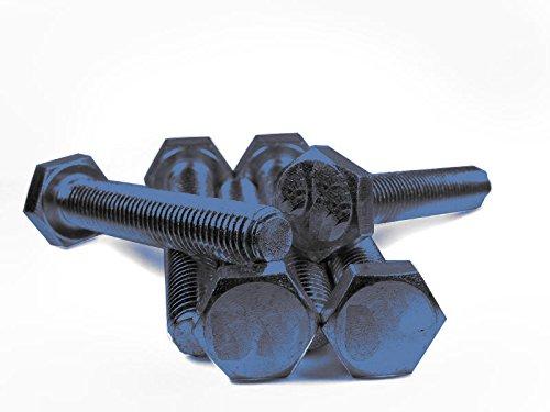 DIN 933 / ISO 4017 PROFI Sechskant Schraube Vollgewinde Güte 12.9 blank Stahl gehärtet - DIN933 PROFI 6kt VGW G12.9 BLK SGH - M6 x 80 (25 Stck)