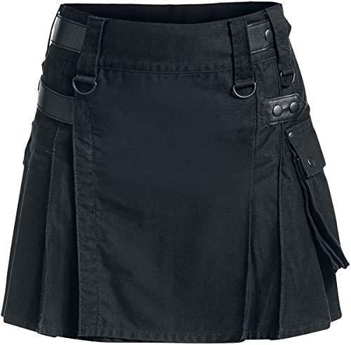 Black Premium by EMP Kilt Frauen Kurzer Rock schwarz M