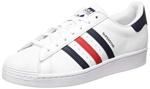 adidas Herren SUPERSTAR Leichtathletik-Schuh, FTWR White Scarlet FTWR White, 44 EU