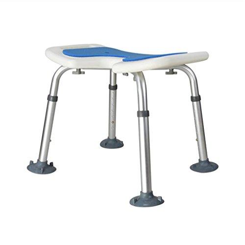 IAIZI Silla de ducha de taburete de baño para ancianos Asientos de ducha de aleación de aluminio Taburete Banco de ducha para mujeres embarazadas con una estera antideslizante grande Persona discapaci