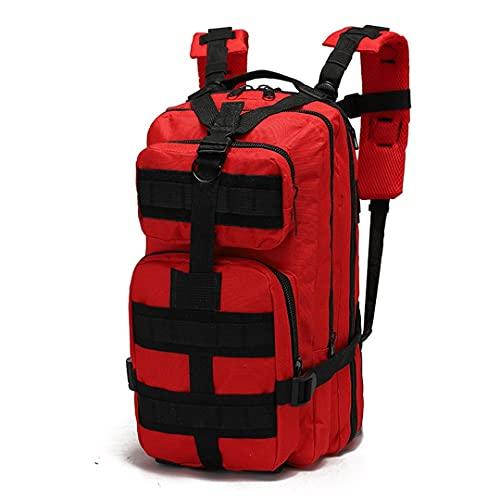 Ynrbeminb 25-30L Mochila táctica Trekking de Hombre Viajar Mochila Macheta Militar Deporte al Aire Libre Escalada de la Bolsa Red 30-40L