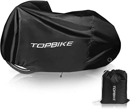 TOPBIKE Fahrradabdeckung Wasserdicht hochwertiges Polyester-Material Fahrradgarage Premium Schutzhülle