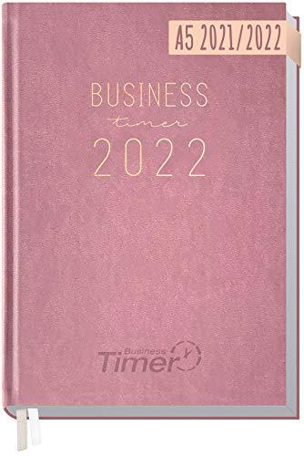 Chäff Business-Timer 2021/2022 A5 [Altrosa] Terminplaner, Wochenkalender 18 Monate: Jul 2021 - Dez 2022 | Terminkalender, Wochenplaner, Organizer | klimaneutral und nachhaltig
