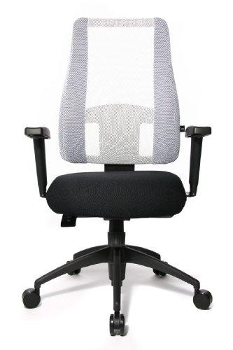 Topstar LT20BTW503 Bürostuhl Lady Sitness Deluxe inklusiv höhenverstellbare Armlehnen (schw./schw.-weiss)