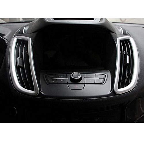 GOFORJUMP 2pcs Nouvelle Voiture Chrome Tableau de Bord intérieur/Panneau de Commande air conditionner Couverture de Sortie d'air Garniture pour F/ord KUGA Escape 2013 2014 2015