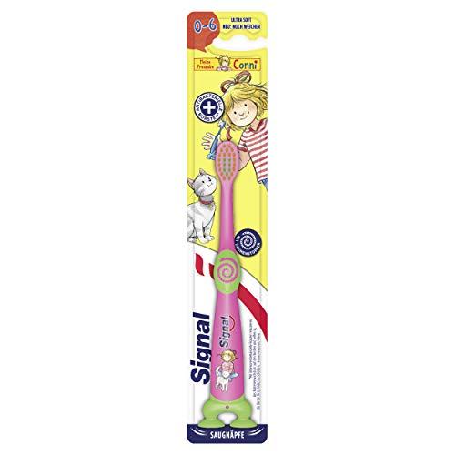 Signal Kids Zahnbürste (für Kinder im Alter von 0 bis 6 Jahren Ultra Soft), mit praktischen Saugnäpfen, 1er Pack