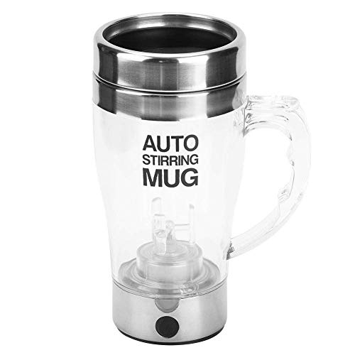 LILICEN CY Auto Stirring Mug, 350ml Portable Automatic Electic Coffee Milk Mixing Cup Drinking Cup Self-Stirring Mug for Tea Coffee Hot Chocolate Soups Bubble Tea