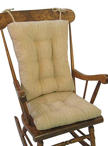 Klear Vu The Gripper Non-Slip Polar Jumbo Rocking Chair Cushions, Sand