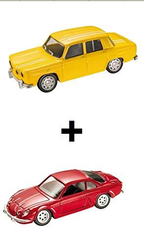 Mondo Motors Set of 2 1/43 Cars: Yellow R8 Gordini + Renault Alpine Red (Ref: MV2)