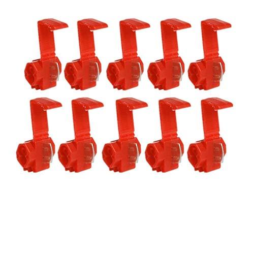 ADUCI Terminales 50pcs Cable Crimp Conectores rápidos Empalme Snap Lock Cable eléctrico Rojo/Azul/Amarillo (Color : Rojo)