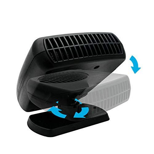 Riloer 12V 200W Autoheizung Tragbarer Lüfter Heizung & Kühler Abtaudefogger, Heizlüfter Windschutzscheiben-Defogger Defroster für Auto, geräuscharm