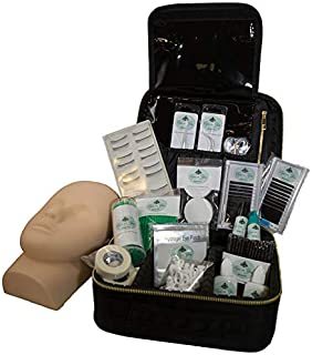 EYES ON YOU BEAUTY Professional Eyelash Extension Starter Kit with Fashion Cloth Case Suitcase & Free Online Education - Volume